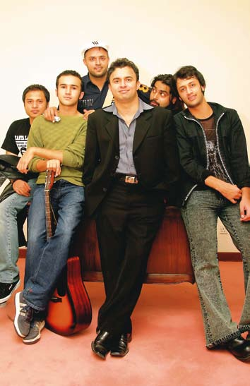 Atif and Shahzad With his band