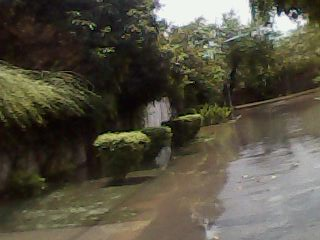 The bad patch - rainwaters flood in sector B, DHA