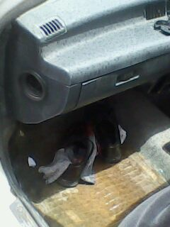 The sun was out, the engine dried out a bit, Adnan's shoes and socks